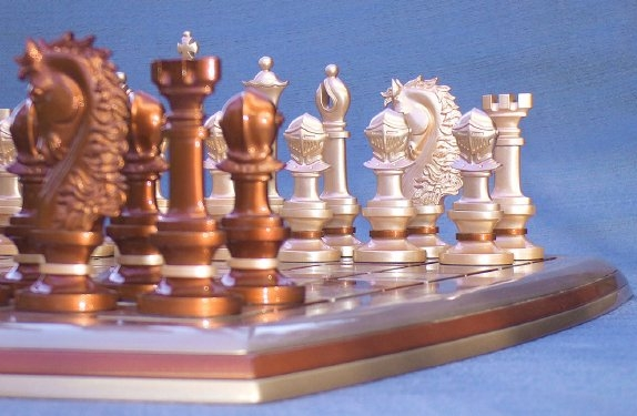 Jogo de Xadrez com design inovador