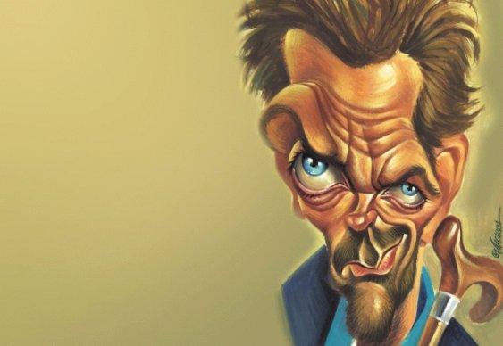 Ator Hugh Laurie, que interpreta o Dr. House