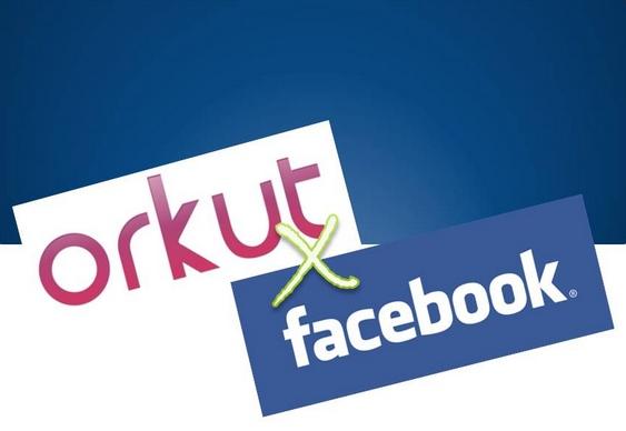 Redes Sociais Orkut e Facebook