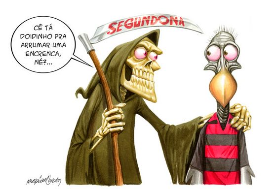 Charge - Flamengo na Segunda Divisão