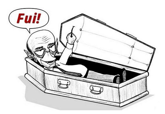 José Serra Drácula no caixão
