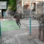 Fusão de fotos cria ilusão de fantasmas de guerra em cenários atuais