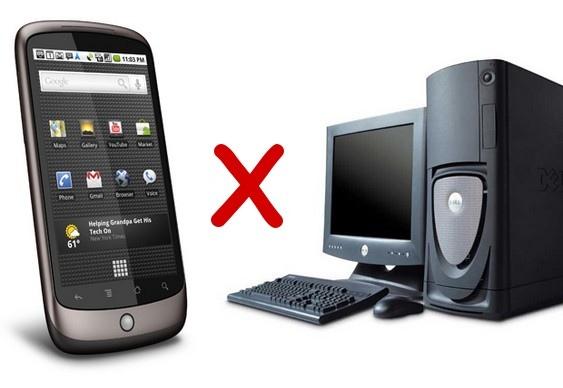 Celular Versus PC