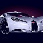 Aparência 'animal' do carro super esportivo Bugatti Gangloff