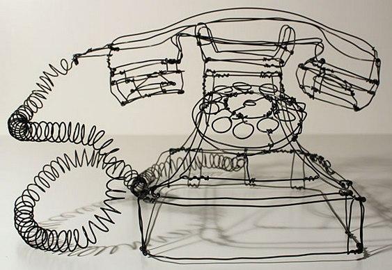 Telefone retrô em 3D