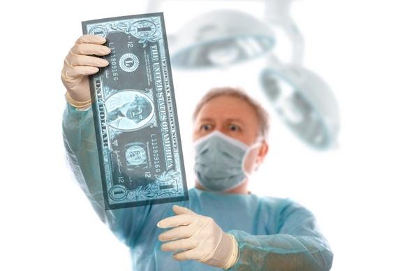 Radiografia de dinheiro
