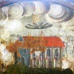 Disco voador aparece em pintura de mosteiro na terra do Drácula