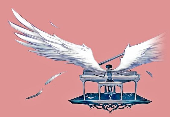 Anjo tocando piano