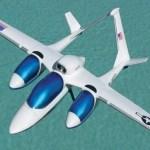 Avião de cabines separadas e panorâmicas para passeios turísticos