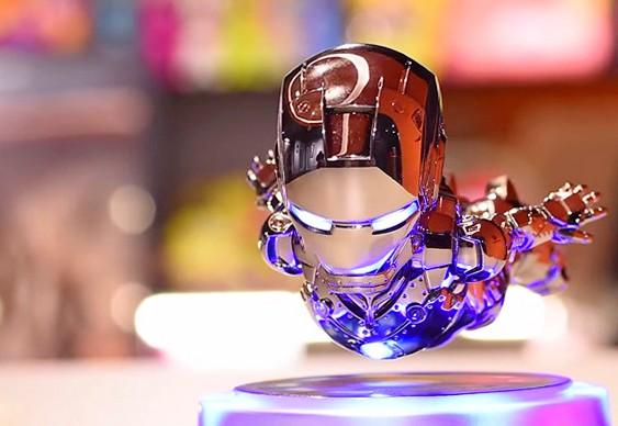 Iron Man floating