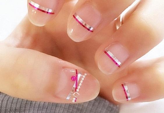 Adesivos prateados para colar nas unhas