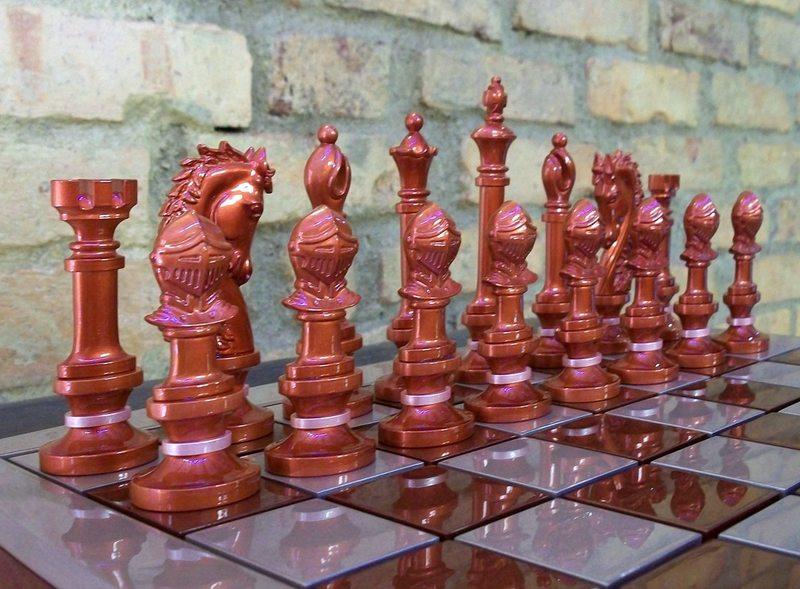 Peças pretas do jogo de xadrez