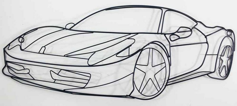 Carro desenhado com vergalhões