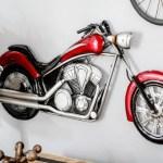 Harley-Davidson em painel 3D de metal para paredes