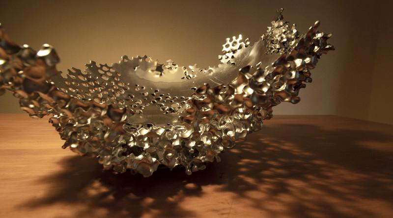 Reciclagem de alumínio como escultura