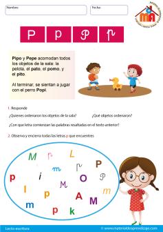 La Letra P Lecto Escritura Material De Aprendizaje