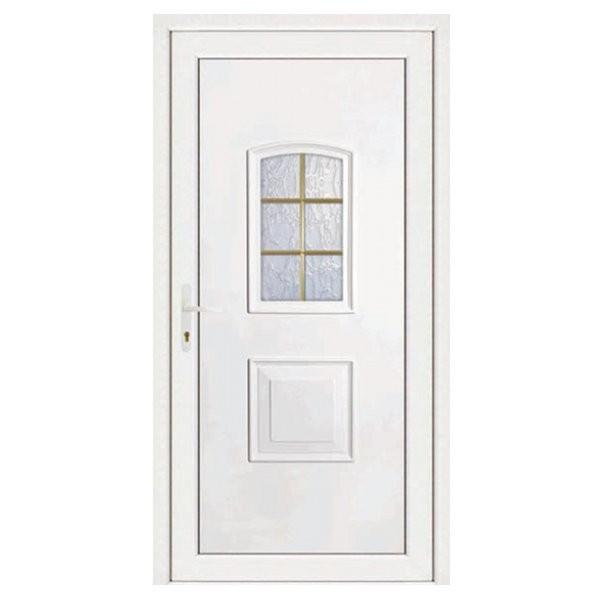 porte d entree pvc eva blanche 6 carreaux poussant droit 200 x 90 cm