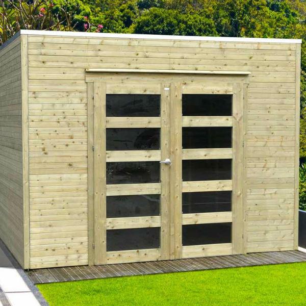 abri de jardin bois autoclave solid modele bari 298 x 290 cm