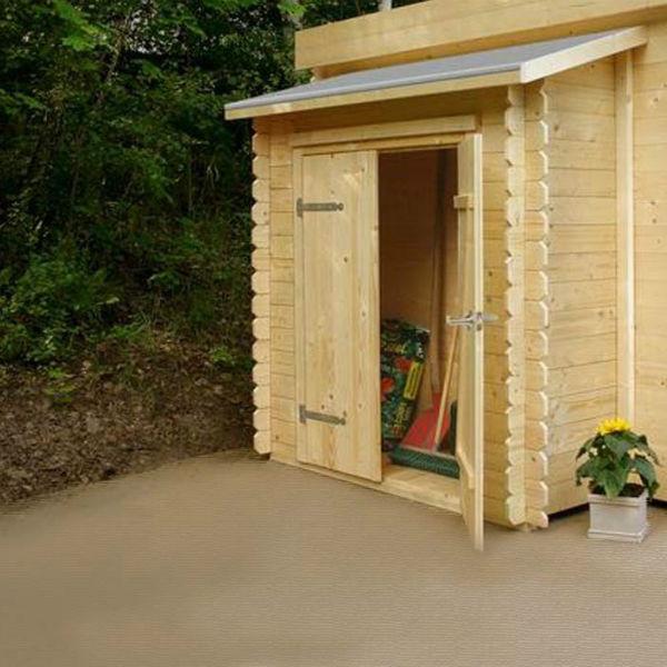 armoire double pour abris de jardin autoclave solid 156 x 58 cm