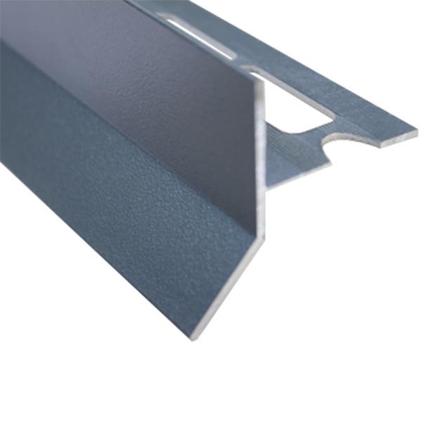 profile goutte d eau aluminium gris sable pour carrelage 21 mm x 2 5 m