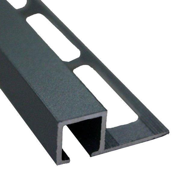 profile de finition carre carrelage aluminium gris sable 12 mm x 2 5 m