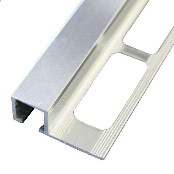 profile de finition carre carrelage aluminium chrome brillant 10 mm x 2 5 m