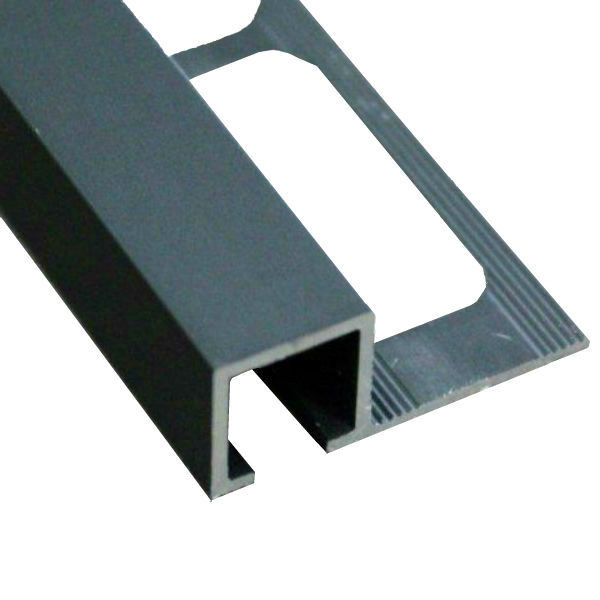 profile de finition carre carrelage aluminium noir mat 10 mm x 2 5 m