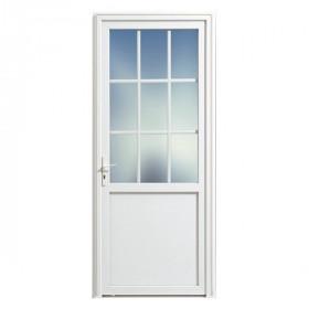 porte de service pvc 1 2 vitree droit