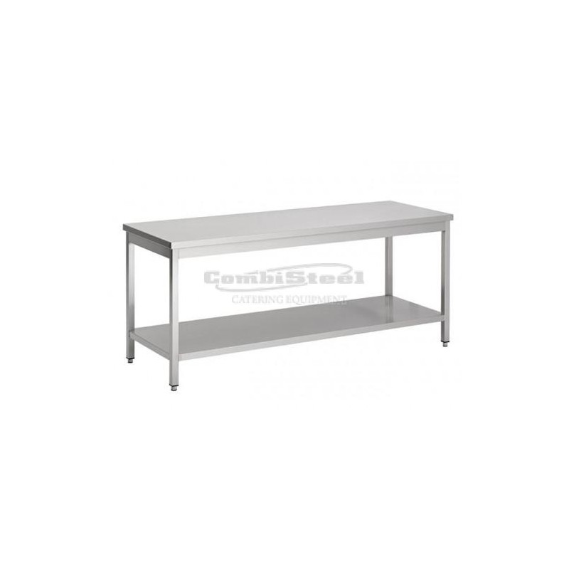 table inox pro etagere demontable hauteur 600 gamme 700 combisteel pas cher