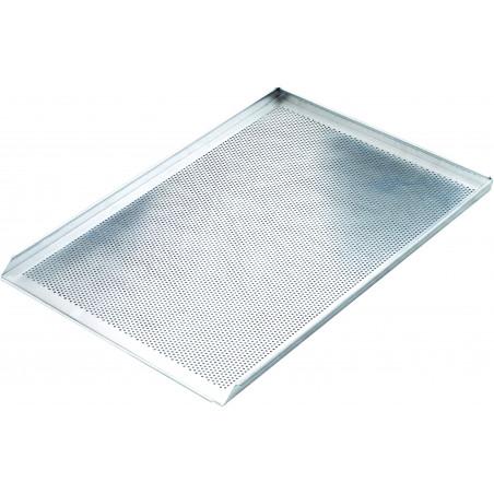 plaque a pain et patisserie en aluminium perforee 600 x 400 mm stalgast