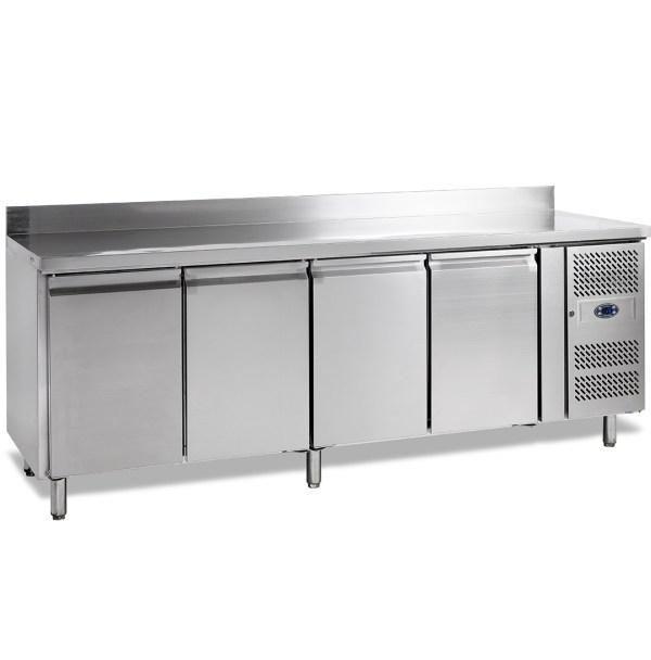SK6410 TABLE RÉFRIGÉRÉE POSITIVE SNACK AVEC DOSSERET, -2+10°C, 4-PORTES, PROFONDEUR 600, 223 CM, 480 L