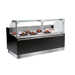TREPORT VITRINE REFRIGEREE MULTI-USAGES, VENTILE 0+4°C OU STATIQUE +1+5°C, LONGUEURS, CANALISABLE, FRILIXA BELLUNO