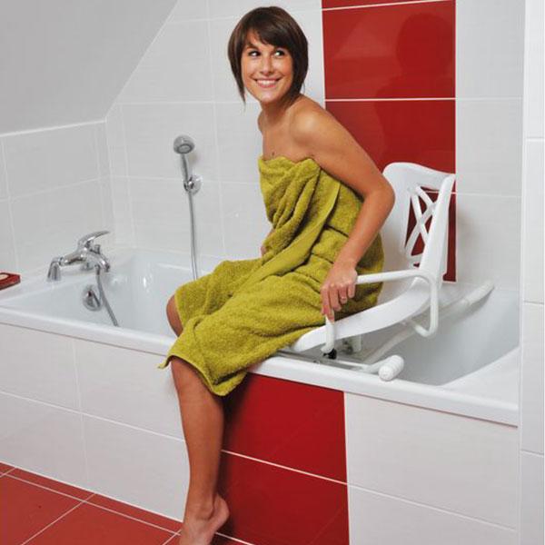 fauteuil de bain pivotant a 360