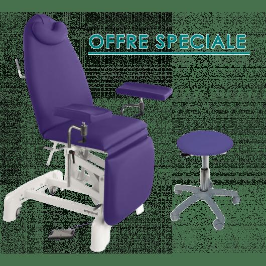 fauteuil de prelevement electrique ecopostural c3571 c3569 tabouret offert