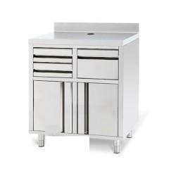 meuble neutre machine a cafe en inox a