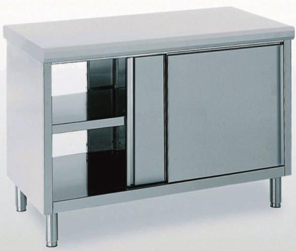 meuble inox porte coulissante sur 2 faces largeur 600 mm