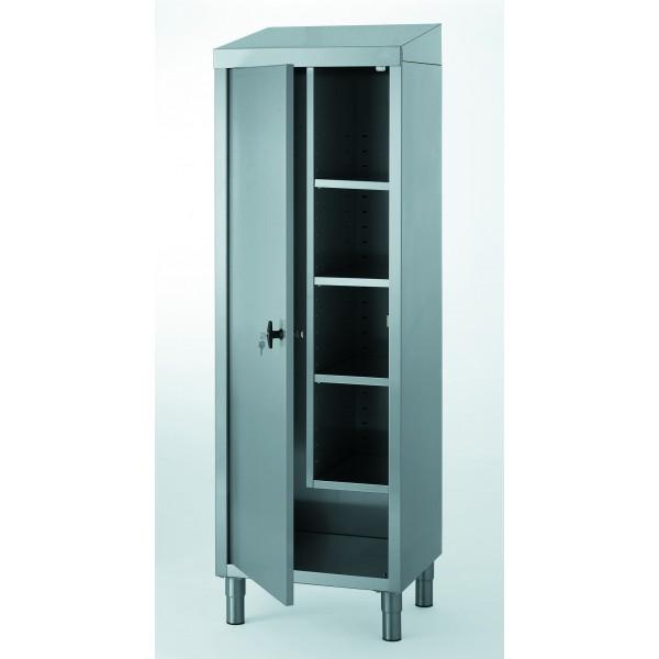 armoire a fond plat pour produits d entretien et balais avec separation verticale h 1890 mm