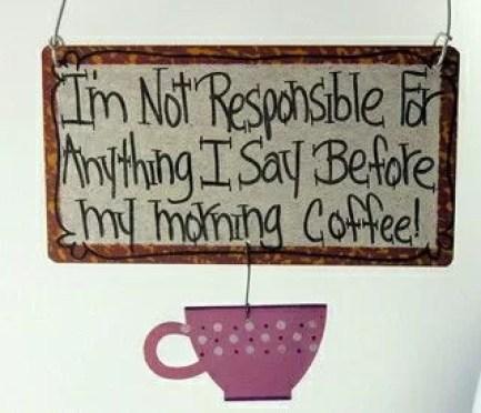 Eu não sou responsável por nada que eu disser antes do café da manhã (Imagem Pinterest_