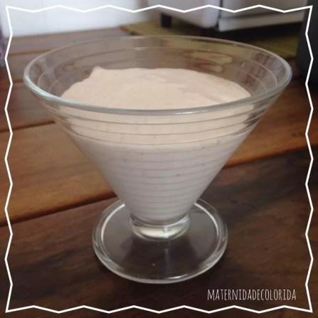 petit suisse de morango sem leite de vaca