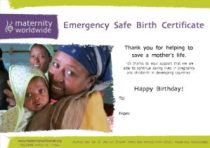 Emergency Safe Birth Certificate 2013 - Happy Birthday - Online Example