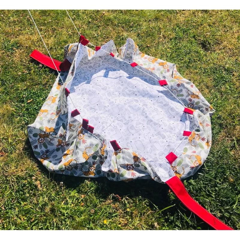 tapis de jeux sac de rangement 3 feutres textil