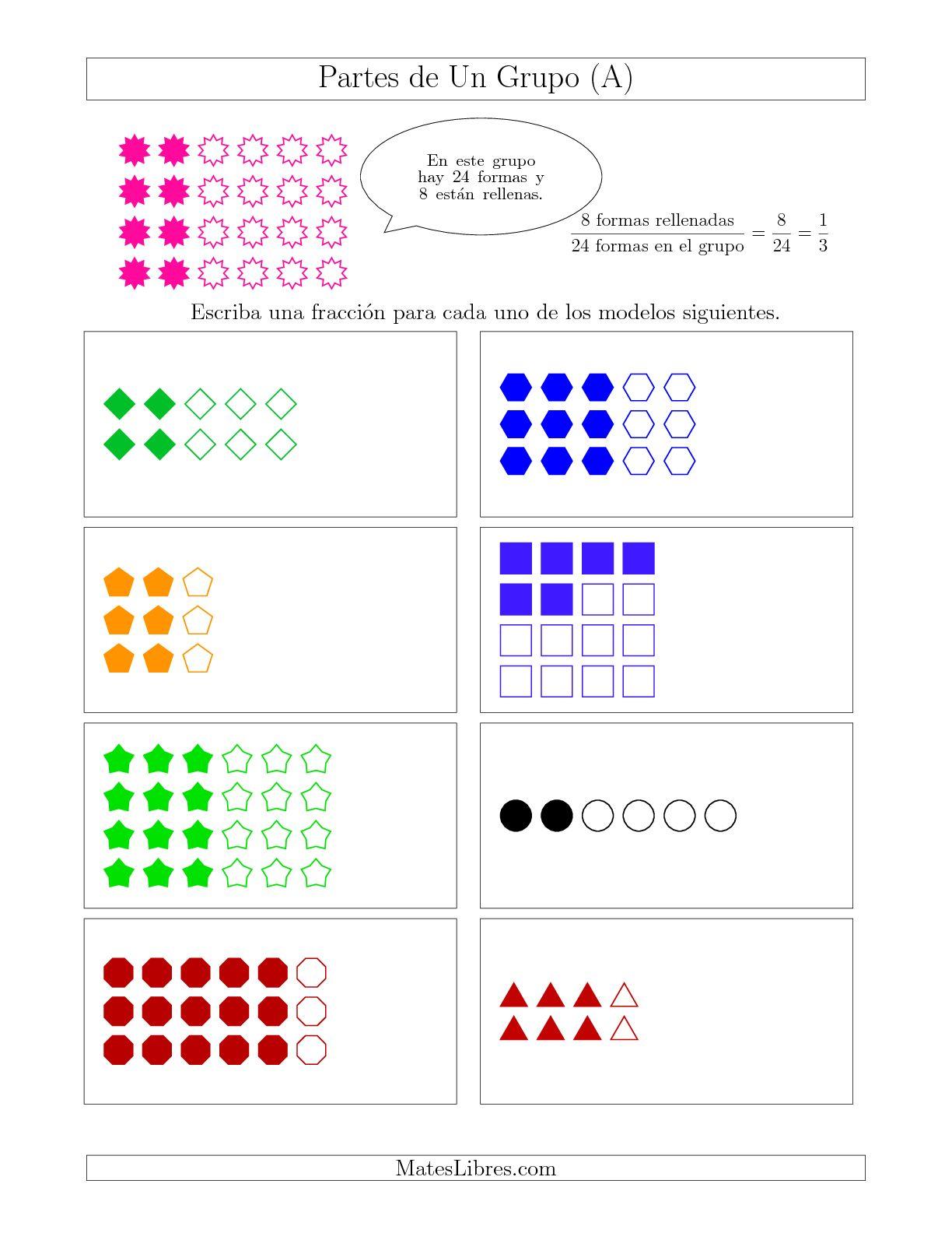 Modelos De Fracciones De Un Grupo Hasta Octavos A Hoja