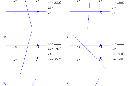Angles Formed By Parallel Lines Worksheet Best Free Fillable Forms