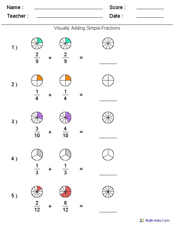 Image Result For Math Worksheets On Adding Fractions With Unlike Denominators