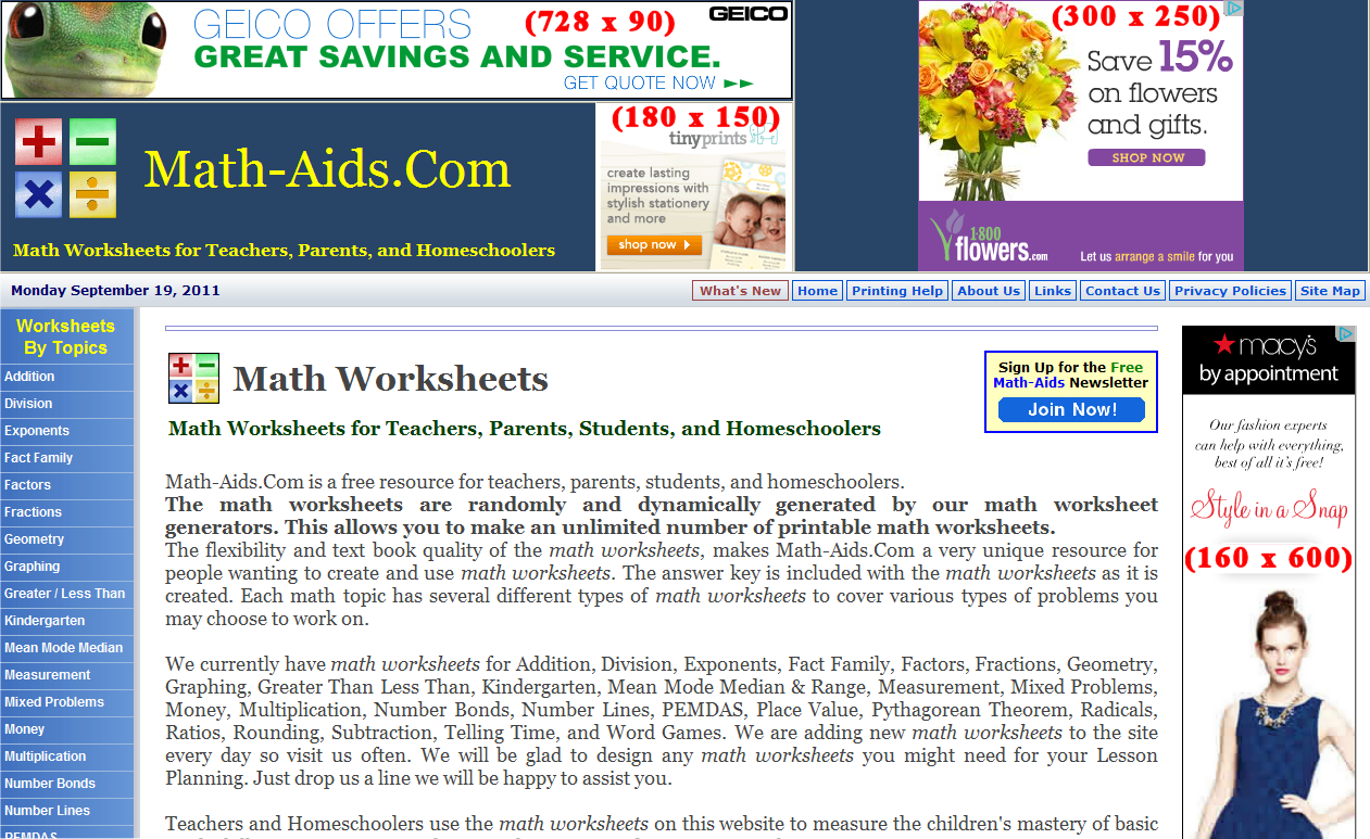 Aids Worksheet