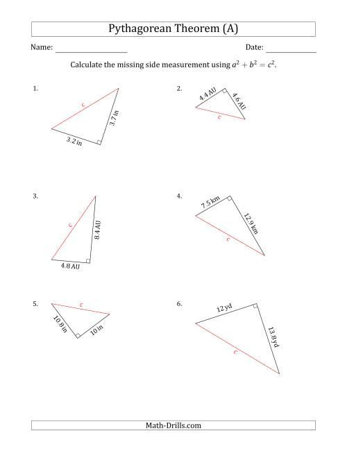 C Lcul Te Hypotenuse Us G Pyth G E N Em