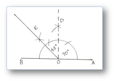 using compass construction of angles