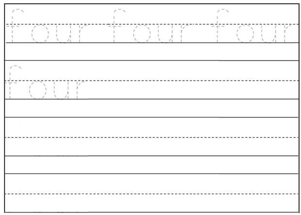 Worksheet On Number Four Free Printable Worksheet On Number Four