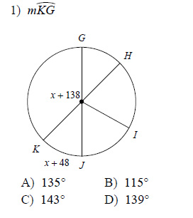 Circles Measures Of Arcs And Central Angles Worksheets