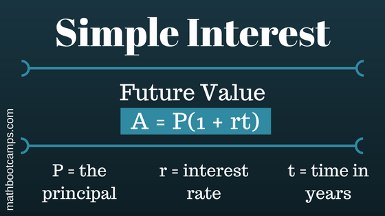 future value of simple interest formula